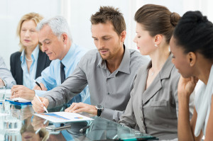 Group Of Business People Are Focused On The Job