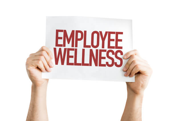 Employee Benefits placard isolated on white
