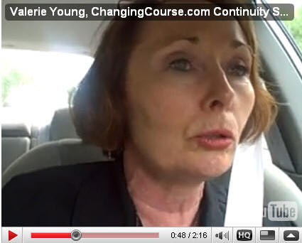 Valerie Young offering a driving testimonial for Ryan Lee's Continuity Summit