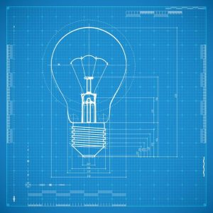 The secret to finding a great business idea changing course bigstock blueprint of bulb lamp styliz 58749746 malvernweather Images